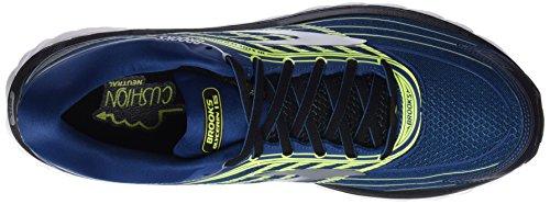 Brooks Glycerin 15, Scarpe da Running Uomo Multicolore (Blue/Lime/Silver)