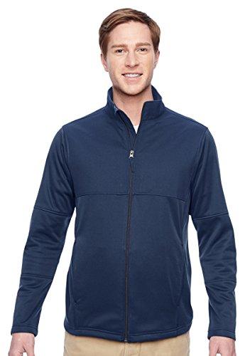 Harriton Mens Full Zip Fleece (Harriton Mens Task Performance Fleece Full-Zip Jacket (M745) -DARK NAVY -3XL)