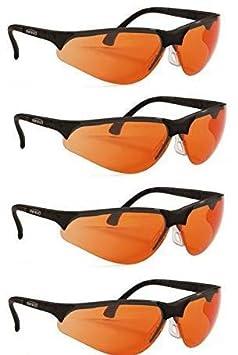 Schutzbrille Terminator UV-400 f/ür Blaulicht und UV-Schutz Orange