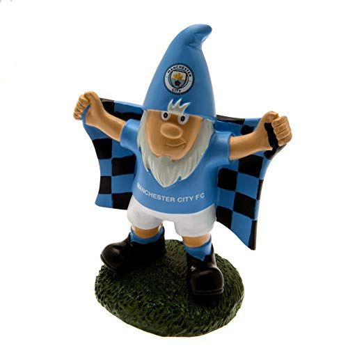 Manchester City FC Official Garden Gnome (One Size) (Sky Blue) (Fc Garden Gnome)