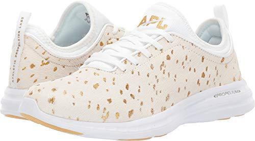 APL: Athletic Propulsion Labs Women's Techloom Phantom Sneakers, Cream/Gold, 6.5 M US ()
