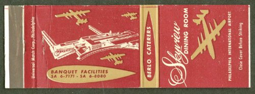 Skyview Dining Room Philadelphia Airport matchcover