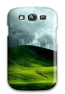6022551K56270716 Snap-on Case Designed For Galaxy S3- Wind Turbine Fields