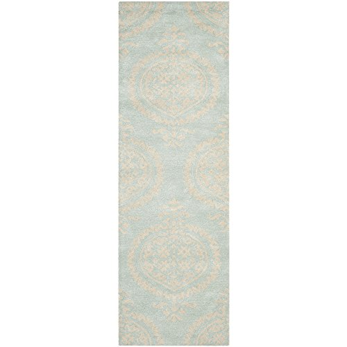 (Safavieh Soho Collection SOH703A Handmade Blue and Beige Premium Wool Runner (2'6