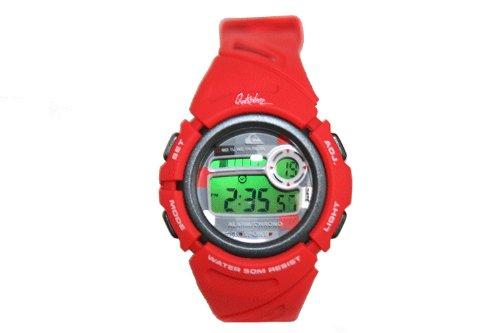 Quiksilver Y001DR/RED - Reloj digital infantil de cuarzo con correa de plástico roja (