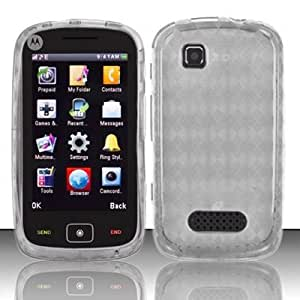 For Net 10 Motorola EX124g Accessory - Clear Agryle TPU Soft Gel Case Proctor Cover + Lf Stylus Pen0