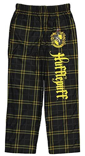 INTIMO Harry Potter Big Boys Houses Plaid Pajama Lounge Pants (Hufflepuff, 16)