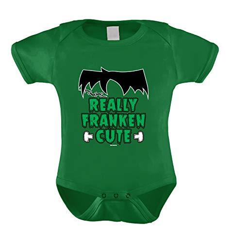 HAASE UNLIMITED Really Franken Cute Infant Bodysuit (Kelly Green, 18 Months) -