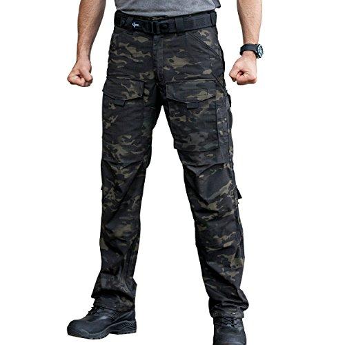 3d281bacf778 FREE SOLDIER Men s Tactical Pants Multi-Pocket Breathable Climbing Hiking  Hunting Pants