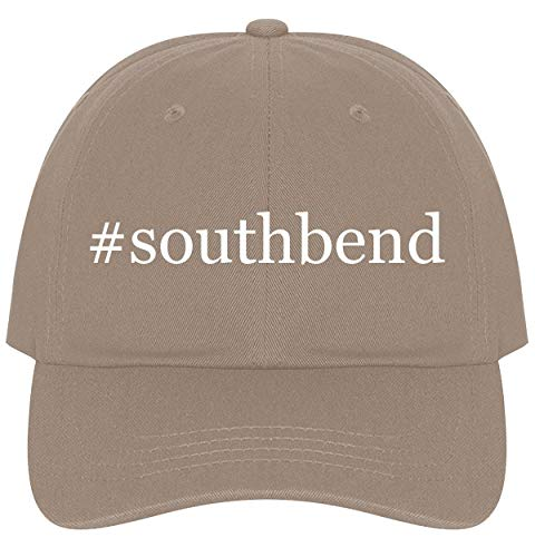 The Town Butler #southbend - A Nice Comfortable Adjustable Hashtag Dad Hat Cap, Khaki