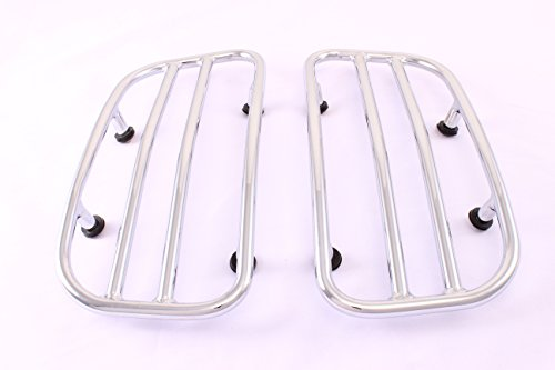 Saddlebag Lid Racks Chrome For Chief/ Chieftain Indian for sale  Delivered anywhere in USA
