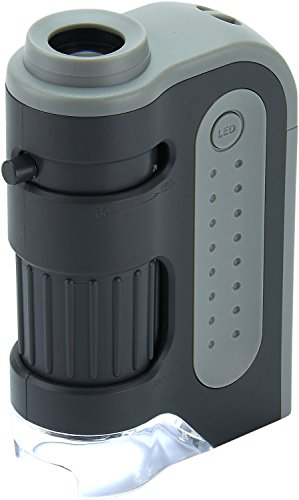 Carson MicroBrite Plus 60x-120x Power LED Lighted Pocket Microscope (MM-300) (Move Led)