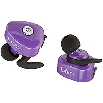 Bem Comfortable Silicone Bluetooth Headset for Smartphones - Purple