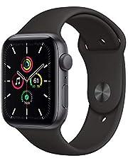 2020 AppleWatchSE (GPS) • 44mm aluminiumboett rymdgrå • sportband svart