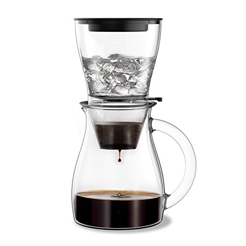 Fentac Cold Brew Adjustable Ice Tap Drip Coffee Maker (Transparent)