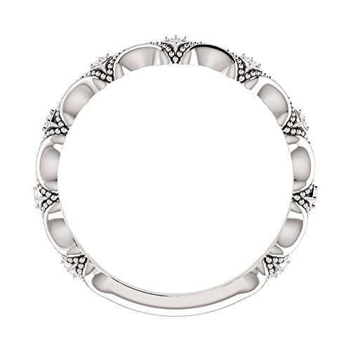 0.30 ct Ladies Round Cut Diamond Anniversary Band in 18 kt White Gold