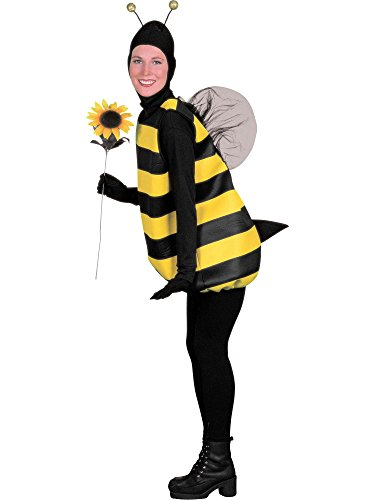 Women's Bumble Bee Costume, Black/Yellow, Standard -