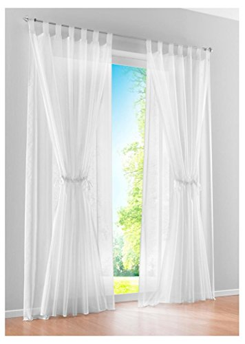 86 York Sheer Curtains 57 Inches Long White Voile Sheer Window Curtains 1 Panel