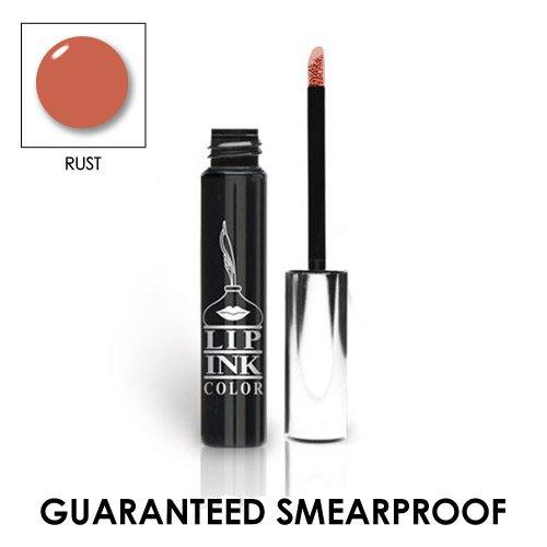LIP INK Organic Vegan 100% Smearproof Liquid Lipstick, Rust