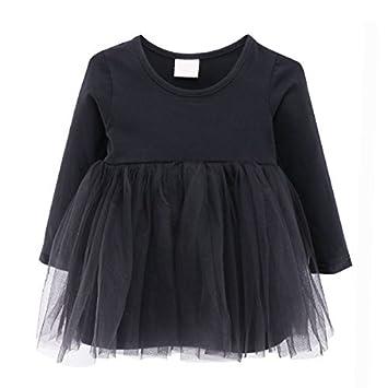 22929f22f3ad6 ガールズワンピース 女の子 長袖 チュニック チュールスカート キッズドレス 子供服 プリンセススカート (80cm