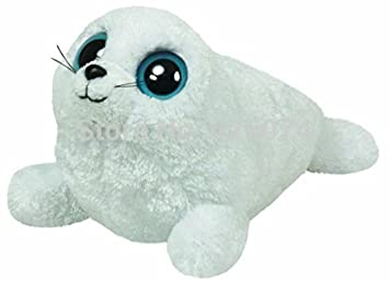 159e724b7ac Amazon.com  New Orignal TY Beanie Boos Big Eyed Stuffed Animals Iceberg the  White Seal Kids Plush Toys For Children Baby Gifts 15CM  Baby