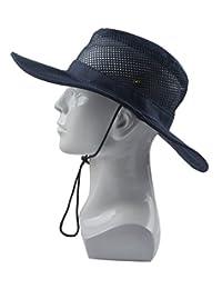 SUNLAND Fishing Hats Sun Hats Summer Hats Bucket Safari Caps (Black)
