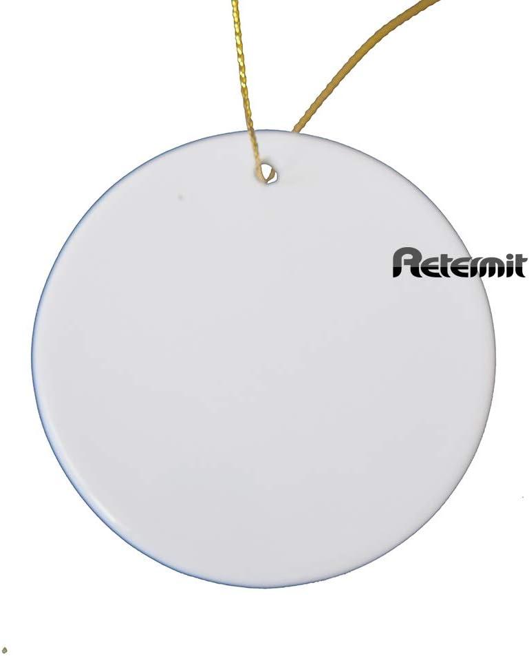 RETERMIT 10 pcs Sublimation Ceramic Ornament Christmas Tree Decor Disc Ornament for Sublimation Sublimation Blanks Blank Ceramic Ornaments (3