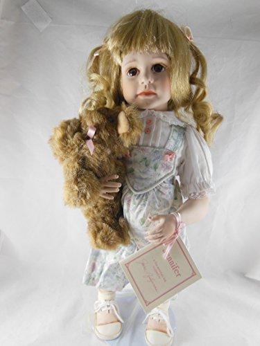 - Vintage Hamilton Heritage Jennifer Fine Bisque Porcelain Doll Designer Jane Zidjunas 16