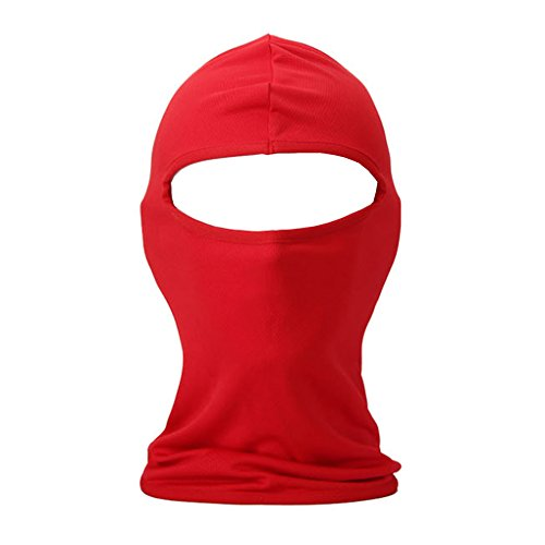 Quick Easy Costumes For Teenage Girls (Multifunctional Balaclava Face Mask Thin Breathable Adjustable UV Protective Outdoor Sports Riding Cycling Hunting Hiking Motorcycle Biker Helmet Liner Full Face Mask Beani Red)