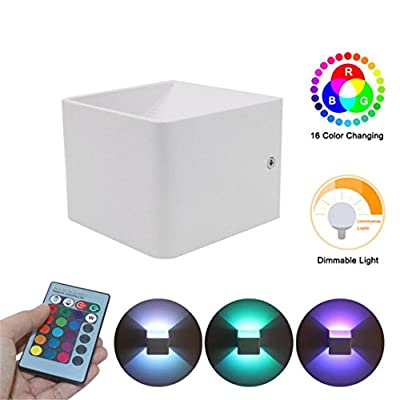 Oldeagle Wall Sconces LED 3W Aluminum Colorful RGB Light Wall Lights Home Decoration