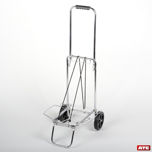 ATEpro Luggage Cart, Metal Rolling Luggage Cart,Folding Storable Luggage Roller by ATEpro