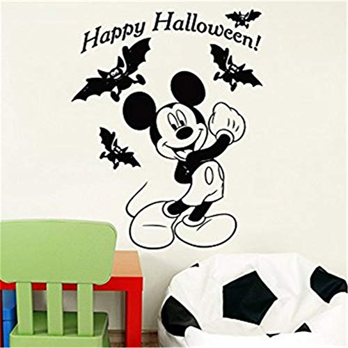 Tioua Mickey Mouse Wall Sticker Decal Creative DIY Cute Mickey Mouse Halloween Costume Kids Name Baby Wall Stickers for Kids Rooms Home ()