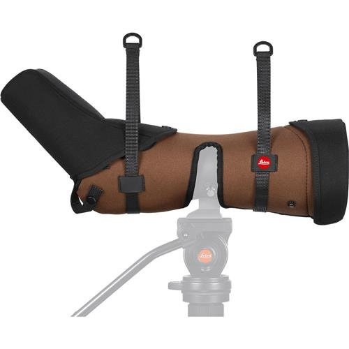 Leica Ever-Ready Stay-On Angled Case for APO-Televid 82 W Spotting Scope, Brown by Leica
