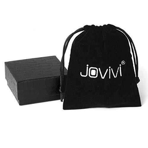 Jovivi 4 Pares de Acero Inoxidable Para Hombre Clásico Moderno Modelo Adornado Estilo Camisa de Vestir Gemelos Conjunto de Diseño Mixto (Gris)