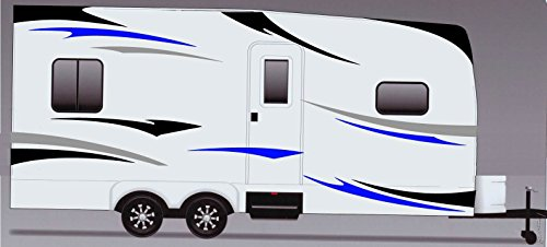 RV, Trailer Hauler, Camper, Motor-home Large Decals/Graphics Kits - Graphic Features Side 1