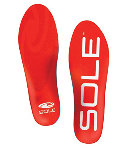 Sole Active Medium Footbed Insoles for Men and Women (Men's 6 / Women's 8) by SOLE