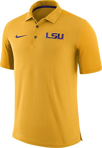 - NIKE Men's LSU Tigers Gold Team Issue Football Sideline Performance Polo (L)