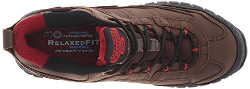 Skechers Work Mens Soft Gilbe Slip Antiscivolo Boot Dark Brown