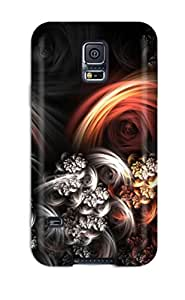 Premium Durable Silver Shapes And Flowers Fashion Tpu Galaxy S5 Protective Case Cover
