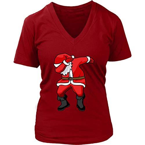 Santa Claus Dabbing Tshirt - Funny Christmas T-Shirt - Womens Plus Size Up to 4X ()