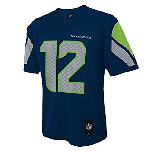 12th Fan Seattle Seahawks #12 Man NFL Toddler Navy Home Jersey (Toddler 2T)