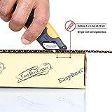 Modern Box Cutter, 3 blade depth setting , Squeeze