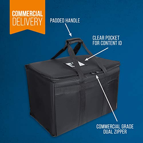 """Food Delivery Bag. Heavy Duty Bag with Strong Insulation. Reinforced Stitching for Heavy Loads. Perfect for Food Delivery & Commercial Transportation. Fit Chafing Trays. Large Capacity (23""""x14""""x15""""). by Trust the Fresh (Image #6)"""