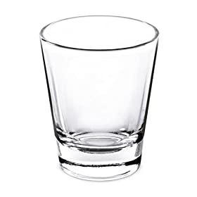 1.5 Oz Whiskey Shot Glass; (Set of 4) Shot Glasses