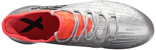Adidas Hombres X 16.1 Fg Soccer Cleats Plata, Negro, Solar Red