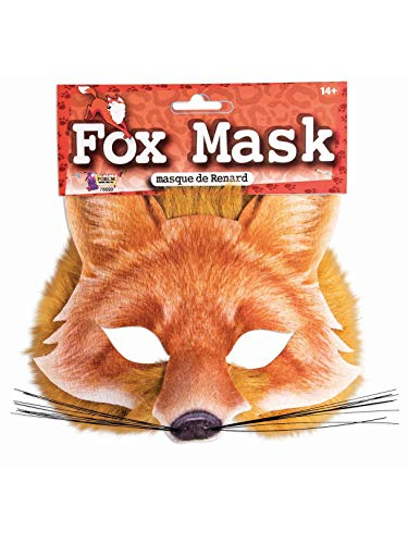 Forum Novelties 78699 Unisex-Adults Half Mask-Fox, Light Brown, Standard, One Size, Multicolor -