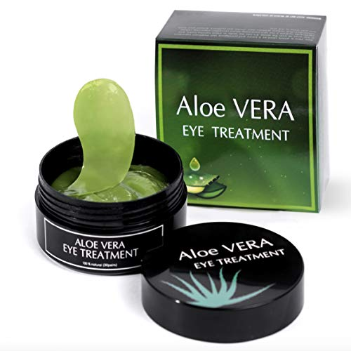 LUXURY Aloe Vera Eye Treatment Mask (30 Pairs) Reduces Wrinkles and Puffiness, Lightens Dark Circles and Reduces Bags Under Eyes, Moisturizes and Anti Aging Skin from My Alle Care