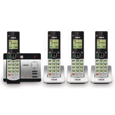 VTech CS5129-4 DECT 6.0 Expandable Cordless Phone System with 4 Handsets