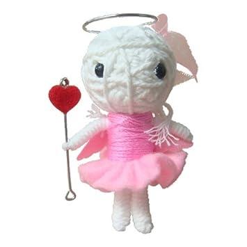 Amazon.com: hadak tienda ángel Voodoo Doll Llavero: Arte ...