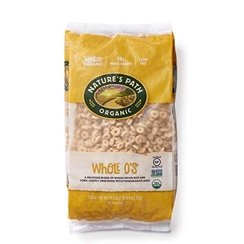 Nature's Path Whole O's Cereal, Healthy, Organic, Gluten-Free, Low-Sugar, 26.4 Ounce Bag (Pack of 6) - Whole Grain Path Natures
